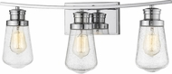 Z-Lite 1928-3V-CH Gaspar Modern Chrome 3-Light Bath Sconce