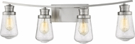Z-Lite 1928-4V-BN Gaspar Contemporary Brushed Nickel 4-Light Vanity Light Fixture