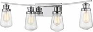 Z-Lite 1928-4V-CH Gaspar Contemporary Chrome 4-Light Bathroom Vanity Light Fixture