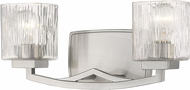 Z-Lite 1929-2V-BN Zaid Modern Brushed Nickel 2-Light Bathroom Lighting Sconce