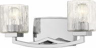 Z-Lite 1929-2V-CH Zaid Modern Chrome 2-Light Bath Lighting Sconce