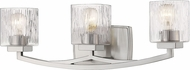 Z-Lite 1929-3V-BN Zaid Contemporary Brushed Nickel 3-Light Bathroom Wall Light Fixture
