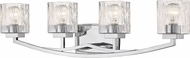 Z-Lite 1929-4V-CH Zaid Modern Chrome 4-Light Bathroom Lighting Fixture