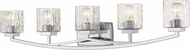 Z-Lite 1929-5V-CH Zaid Contemporary Chrome 5-Light Bath Light Fixture