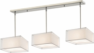Z-Lite 193-15-3W Sedona Modern Brushed Nickel White/ Super White Multi Pendant Light Fixture