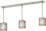 Z-Lite 193-6-3BK Sedona Contemporary Brushed Nickel Black/Super White Multi Pendant Lighting Fixture