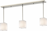 Z-Lite 193-6-3W Sedona Modern Brushed Nickel White/ Super White Multi Hanging Pendant Lighting