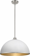 Z-Lite 1930P20-HWH-BN Citadel Contemporary Hammered White and Brushed Nickel Pendant Lighting