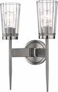 Z-Lite 1932-2S-AN Flair Antique Nickel Sconce Lighting