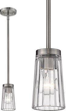 Z-Lite 1932MP-AN Flair Antique Nickel Mini Pendant Lamp