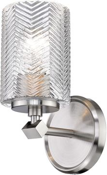 Z-Lite 1934-1S-BN Dover Street Modern Brushed Nickel Wall Sconce