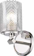 Z-Lite 1934-1S-PN Dover Street Contemporary Polished Nickel Wall Lamp