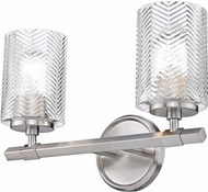 Z-Lite 1934-2V-BN Dover Street Modern Brushed Nickel 2-Light Vanity Light