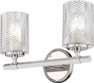 Z-Lite 1934-2V-PN Dover Street Modern Polished Nickel 2-Light Bath Light Fixture