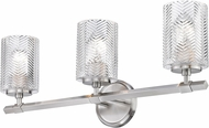 Z-Lite 1934-3V-BN Dover Street Modern Brushed Nickel 3-Light Bath Sconce
