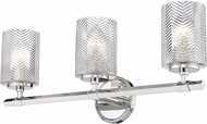 Z-Lite 1934-3V-PN Dover Street Contemporary Polished Nickel 3-Light Vanity Light Fixture