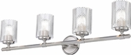 Z-Lite 1934-4V-BN Dover Street Contemporary Brushed Nickel 4-Light Lighting For Bathroom