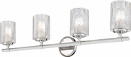 Z-Lite 1934-4V-PN Dover Street Contemporary Polished Nickel 4-Light Bath Lighting