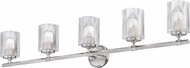 Z-Lite 1934-5V-BN Dover Street Modern Brushed Nickel 5-Light Bathroom Vanity Lighting