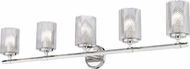Z-Lite 1934-5V-PN Dover Street Modern Polished Nickel 5-Light Bathroom Vanity Light