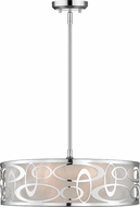 Z-Lite 195-20CH Opal Contemporary Chrome 20  Drum Hanging Light
