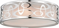 Z-Lite 195-20F-CH Opal Modern Chrome Ceiling Light