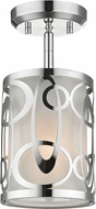 Z-Lite 195-6SF-CH Opal Contemporary Chrome Ceiling Light Fixture