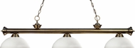 Z-Lite 200-3AB-DMO14 Riviera Antique Brass Dome Matte Opal Kitchen Island Light Fixture