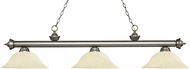 Z-Lite 200-3AS-GM16 Riviera Antique Silver Golden Mottle Kitchen Island Light