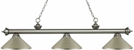 Z-Lite 200-3AS-MAS Riviera Antique Silver Antique Silver Island Light Fixture