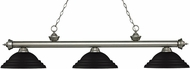 Z-Lite 200-3AS-SMB Riviera Antique Silver Stepped Matte Black Island Lighting
