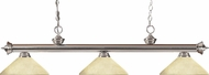 Z-Lite 200-3BN-AGM14 Riviera Brushed Nickel Angle Golden Mottle Kitchen Island Light Fixture