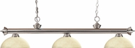 Z-Lite 200-3BN-DGM14 Riviera Brushed Nickel Dome Golden Mottle Kitchen Island Light
