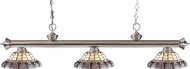 Z-Lite 200-3BN-H14-4 Riviera Brushed Nickel Multi Colored Tiffany Kitchen Island Lighting