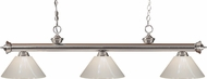 Z-Lite 200-3BN-PWH Riviera Brushed Nickel White Island Lighting