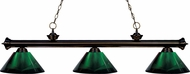 Z-Lite 200-3BRZ-ARG Riviera Bronze Green Island Lighting