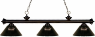 Z-Lite 200-3BRZ-ARS Riviera Bronze Smoke Kitchen Island Lighting
