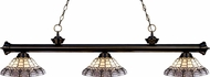 Z-Lite 200-3BRZ-H14-4 Riviera Bronze Multi Colored Tiffany Kitchen Island Light Fixture
