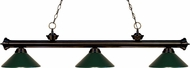 Z-Lite 200-3BRZ-MDG Riviera Bronze Dark Green Island Lighting