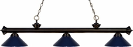 Z-Lite 200-3BRZ-MNB Riviera Bronze Navy Blue Kitchen Island Light