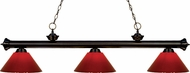 Z-Lite 200-3BRZ-PRD Riviera Bronze Red Island Lighting