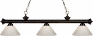 Z-Lite 200-3BRZ-PWH Riviera Bronze White Kitchen Island Lighting