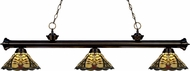 Z-Lite 200-3BRZ-Z14-46 Riviera Bronze Multi Colored Tiffany Island Lighting