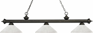 Z-Lite 200-3GB-AWL14 Riviera Golden Bronze Angle White Linen Island Lighting
