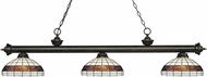 Z-Lite 200-3GB-F14-1 Riviera Golden Bronze Multi Colored Tiffany Kitchen Island Lighting