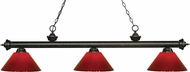 Z-Lite 200-3GB-PRD Riviera Golden Bronze Red Kitchen Island Light