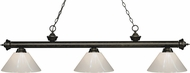 Z-Lite 200-3GB-PWH Riviera Golden Bronze White Island Light Fixture