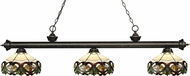 Z-Lite 200-3GB-Z14-33 Riviera Golden Bronze Multi Colored Tiffany Kitchen Island Lighting
