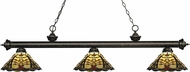 Z-Lite 200-3GB-Z14-46 Riviera Golden Bronze Multi Colored Tiffany Island Lighting