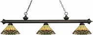 Z-Lite 200-3GB-Z14-49 Riviera Golden Bronze Multi Colored Tiffany Kitchen Island Lighting